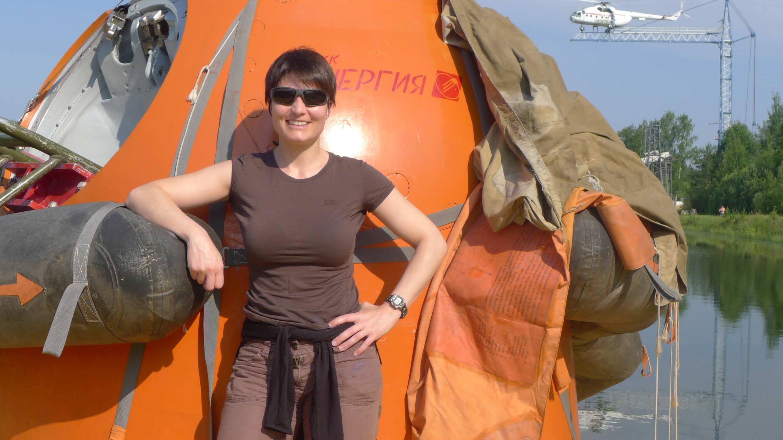 Samantha e un prototipo della Soyuz