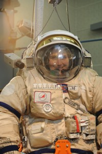 Samantha_spacewalk_training orlan suit